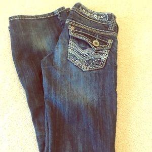 Hydraulic boot cut jeans